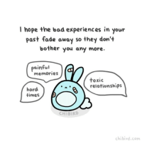 Bunnies, Memes, and Faded: I hope the bad experiences in your  past fade away so they don't  bother you any more  painful  memories  toxic  relationships  hard  times  CHIBIRD  chibird.com They'll still be a part of you, but hopefully in a way that provides you strength instead of pain. cute bunny motivation inspiration growth healing past relationship chibird art gif animation