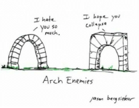 Enemies, Hope, and Arch: I hope y  ov  I hate  collapse  you so  much.  Arch Enemies  ayan  berg si https://t.co/w14Xls6A83