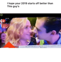 Funny, Twitter, and Happy: I hope your 2019 starts off better than  This guy's  LIVE  Op naar de laatste dag van 2018 lieve groeties aan Happy New Years 😬 👉🏽(via: thatrexguy-twitter)