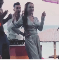 Dancing, Memes, and Lindsay Lohan: I HOPE YOUR LABOR DAY WEEKEND IS AS INCREDIBLE AS LINDSAY LOHAN DANCING (POSSIBLY ON ECSTASY) IN MYKONOS @itsdrewhunter