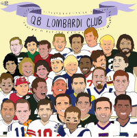 Congrats to Tom Brady, a 5x member of the Lombardi QB Club! SB51: I  I  WB LOMBARDI CLUB  I I I I Congrats to Tom Brady, a 5x member of the Lombardi QB Club! SB51