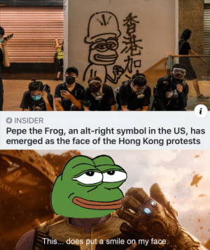 It's the crossover investment of the century, boys! INVEST!! (template below) via /r/MemeEconomy https://ift.tt/2HkFt5D: i  INSIDER  Pepe the Frog, an alt-right symbol in the US, has  emerged as the face of the Hong Kong protests  This... does put a smile on my face.  香港加 It's the crossover investment of the century, boys! INVEST!! (template below) via /r/MemeEconomy https://ift.tt/2HkFt5D