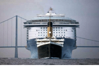 Memes, Cruise, and 🤖: i is a  I A size comparison between the titanic and a modern cruise ship