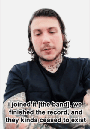 """Facebook, Tumblr, and Videos: i joined it'[the band], we  finished the record, and  they kinda ceased to exist murderfrank: """"Will there be another Leathermouth album?"""" (x)"""