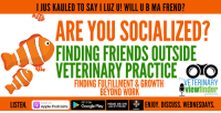 Apple, Friends, and Google: I JUS KAULED TO SAY I LUZ U! WILL U B MA FREND?  ARE YOU SOCIALIZED?  FINDING FRIENDS OUTSIDE  VETERINARY PRACTICE OTO  INDING FULFILLMENT& GRO  VETERINARY  Oviewfinder  BEYOND WORK  ISEN Apple Podcasts  ENJOY. DISCUSS.WEDNESDAYS  Listen or  GET ITON  Google Play |  HEAR US ON  STITCHER Veterinary friends, now is a good time to catch up on Veterinary Viewfinder #podcast - This week is a good one! How do YOU find friends outside of work?