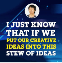 "Listen to Jeff Liu describe the crew's ""idea stew"" in this sneak peek of tomorrow's episode of the Steven Universe podcast! 🎧: I JUST KNOW  THAT IF WE  PUT OUR CREATIVE  IDEAS INTO THIS  STEW OF IDEAS Listen to Jeff Liu describe the crew's ""idea stew"" in this sneak peek of tomorrow's episode of the Steven Universe podcast! 🎧"