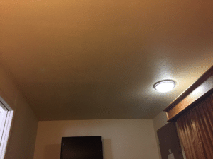 I just laughed my ass off because of the ridiculous positioning of the ceiling light in our motel. My roommate thinks I'm nuts.: I just laughed my ass off because of the ridiculous positioning of the ceiling light in our motel. My roommate thinks I'm nuts.