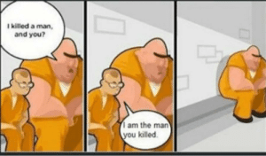 A classic. Right in the feels via /r/memes https://ift.tt/36Z4e1G: I killed a man,  and you?  am the man  you killed. A classic. Right in the feels via /r/memes https://ift.tt/36Z4e1G