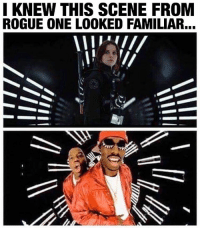 "Darth Vader, Growing Up, and Memes: I KNEW THIS SCENE FROM  ROGUE ONE LOOKED FAMILIAR... RogueOne was good! ...Just not the ultimate ""Empire Strikes Back"" experience I was promised - but that may be on me. Unfortunately I didn't grow up with the original movies like some diehard fans that LOVED this movie did. I love the mythos. I love the legacy characters. I loved The Force Awakens. But Rogue One felt like a love letter that wasn't addressed to me... which really makes me wish I was a bigger fan of that original trilogy to appreciate how elegantly this story dovetailed into that. I recognized the nostalgic callbacks and subtle nods to New Hope but like a Pikachu vs a Geodude, they had no effect on me. 😩 I think I needed more emphasis on character development to make me truly care about the climax of the third act... but Donnie Yen, K2S0 and Darth Vader tho... 👌🏾💯"