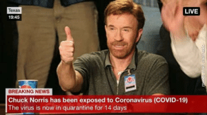 I know Coronavirus is no joke, but this was too good to not share (not OC, sorry if already made the rounds): I know Coronavirus is no joke, but this was too good to not share (not OC, sorry if already made the rounds)