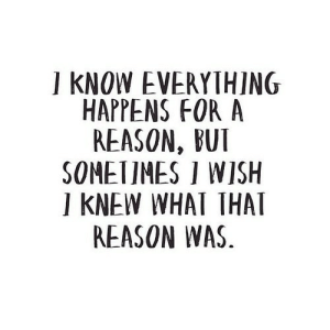 Reason, Net, and What: I KNOW EVERYTHING  HAPPENS FOR A  REASON, BUI  SOMETIMES I WISH  I KNEW WHAT THAT  REASON WAS https://iglovequotes.net/