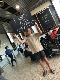 Cheating, Free, and Girlfriend: I KNOw  Tax Free  Luxury  Shop before your Boyfriend exposed his girlfriends cheating at the Melbourne airport arrival gate.