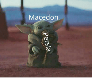 I know that Baby Yoda memes are now ancient, I thought an ancient meme could go together perfectly with ancient history.: I know that Baby Yoda memes are now ancient, I thought an ancient meme could go together perfectly with ancient history.