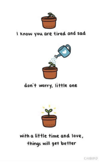 """Love, Http, and Time: I know you are tired and sad  don't worry, little one  with a little time and love,  things will 9et better  CHIBIRD <p>Better days to come! via /r/wholesomememes <a href=""""http://ift.tt/2mu22Mv"""">http://ift.tt/2mu22Mv</a></p>"""