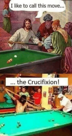 Dank enough?: I like to call this move...  ... the Crucifixion! Dank enough?