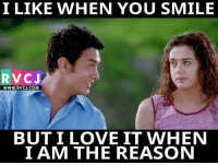 I LIKE WHEN YOU SMILE  RVC J  WWW. RVCJ.COM  BUT I LOVE IT WHEN  I AM THE REASON Smile!☺️☺️ rvcjinsta