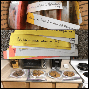 I live in Alaska, my parents had to cancel their trip here due to COVID-19, instead they sent love with a box full of cookies and about 30 quirky notes!: I live in Alaska, my parents had to cancel their trip here due to COVID-19, instead they sent love with a box full of cookies and about 30 quirky notes!