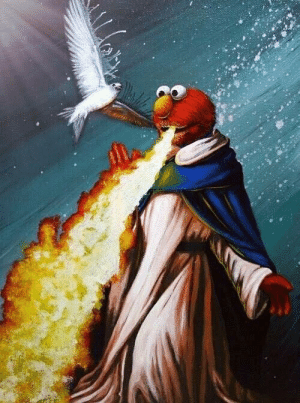 Disappointed, Elmo, and Fire: I looked up St. Elmos Fire in google images and was not disappointed.