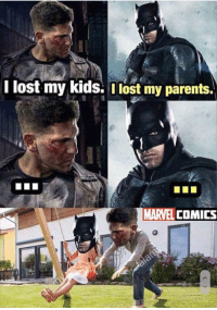 Parents, Lost, and Kids: i lost my kids. ost my parents.  MARVELCOMICS Crossover!