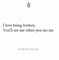 """Life, Love, and Lowkey: I love being lowkey  You'll see me when you see me  OWORLDSTAR """"Private life..."""" 💯 @QWorldstar https://t.co/h2Hk3NSCXm"""