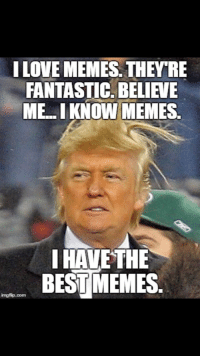 Love, Memes, and Best: I LOVE MEMES. THEY'RE  FANTASTIC. BELIEVE  ME. I KNOW MEMES  I HAVE THE  BEST MEMES  imgflip.com