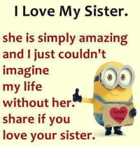 25 Best I Love My Sisters Memes Without Memes Love My Sister