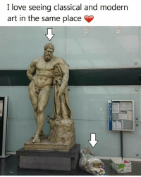 Haha 😂😂😂: I love seeing classical and modern  art in the same place Haha 😂😂😂