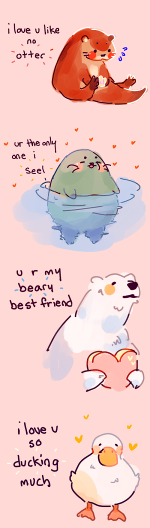 ducking: I love u like  no   ur the only  ane   beary  best friend   56  ducking  much