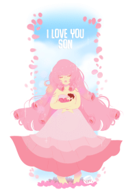 victoria-smn:  Rose quartz and Steven Universe  3Victoriasmn: I LOVE YOU  SON victoria-smn:  Rose quartz and Steven Universe  3Victoriasmn
