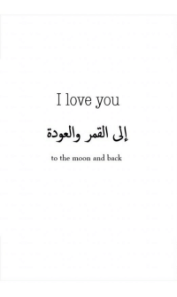 Love, I Love You, and Moon: I love you  to the moon and back