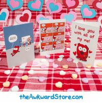 Memes, 🤖, and Valentine Day: I love you  with  all of  my me!  MAGICAL?  theAwkward Store.com Valentine's Day cards!  theawkwardstore.com