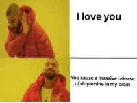 Love, Memes, and I Love You: I love you  You cause a massive release  of dopamine in my brain Join our group: Science Memes