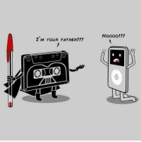 Starwars cassette meets ipod: I M YouR FATHER!!!  MIIIN  Noooo!!! Starwars cassette meets ipod