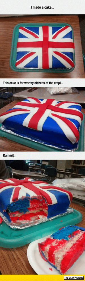 Club, Tumblr, and Blog: I made a cake...  This cake is for worthy citizens of the empi...  Dammit.  THE META PICTURE laughoutloud-club:  The Treason Cake
