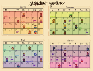 I made a calendar with the 12 zodiac signs! It didn't divide evenly so striped days are on the cusp :-): I made a calendar with the 12 zodiac signs! It didn't divide evenly so striped days are on the cusp :-)