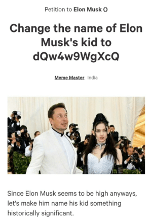 I made a Petition for Elon Musk: I made a Petition for Elon Musk