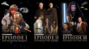 I Made A Posterwallpaper For The Star Wars Prequels 4k Star Wars Meme On Me Me
