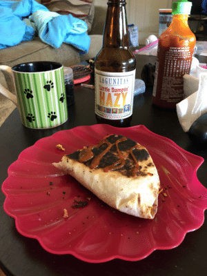 I made a shitty breakfast quesadilla and cracked a beer at 8:30. Officially one month into quarantine. 🍻: I made a shitty breakfast quesadilla and cracked a beer at 8:30. Officially one month into quarantine. 🍻