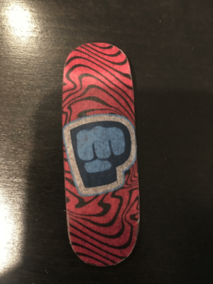 I made a wooden PewDiePie fingerboard: I made a wooden PewDiePie fingerboard