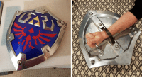 Metal, Shield, and All: I made an all-metal Hylian Shield