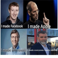 Facebook, Microsoft, and Hearts: I made Facebook I made App  made Microsoft  SOt I made everyones hearts wá Wholesome Leaders