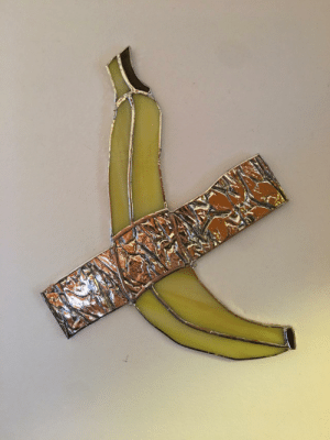 I made some stained glass worth $120,000. Banana, me, stained glass, 2019: I made some stained glass worth $120,000. Banana, me, stained glass, 2019