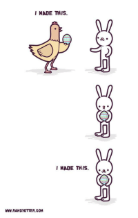 """Easter, Tumblr, and Blog: I MADE THIS.  I MADE THIS.  WWW RANDYOTTER.GOM <p><a href=""""http://ragecomicsbase.com/post/159159486377/easter-plagiarism"""" class=""""tumblr_blog"""">rage-comics-base</a>:</p>  <blockquote><p>Easter plagiarism</p></blockquote>"""