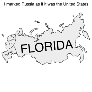 California, Florida, and Live: I marked Russia as if it was the United States  CALIFORNIA  1 D  FLORIDA  TEXAS I live in Russia so I can confirm