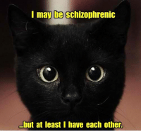 May, Schizophrenic, and Each Other: I may be schizophrenic  .but at least I have each other.