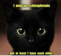 Memes, 🤖, and Schizophrenic: I may be Schizophrenic  but at least I have each other.