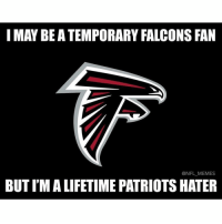 Patriots Haters: I MAY BEATEMPORARY FALCONS FAN  @NFL MEMES  BUTIMALIFETIME PATRIOTS HATER