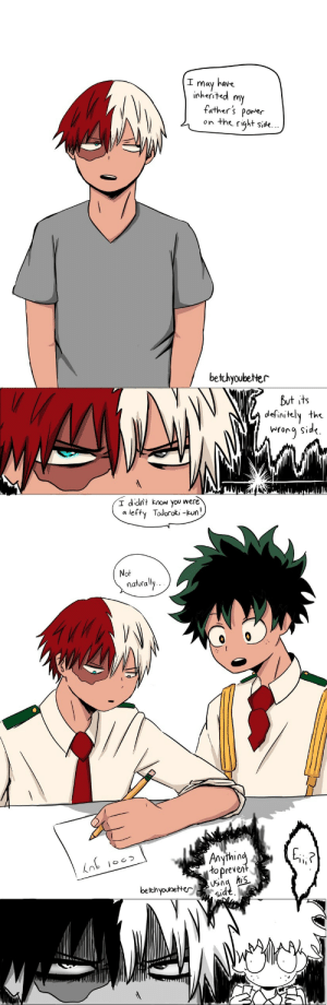 betchyoubetter:  Au where everything is exactly the same except Todoroki's sides are switched.: I may have  inherited m  father's porer  on the right side.  bethyoubeter  But its  definitely the  iNrora Sid<.   I dcit know you were  a lefty Todoroki -kun  Not  naturally  in  to preve  bethyouoeter  id  S1 betchyoubetter:  Au where everything is exactly the same except Todoroki's sides are switched.