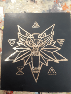 I may just be a drug addict who made this in rehab clinic ergotherapy, but I scratched this free-handedly and for the first time. Thought you guys might like it.: I may just be a drug addict who made this in rehab clinic ergotherapy, but I scratched this free-handedly and for the first time. Thought you guys might like it.