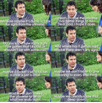 This scene.. #HIMYM https://t.co/FG3wi0u379: I mean  e the Universe  Because maybe it's dumb tolook has better things to do  for signs from the universe  Dear God, I hope it does  mothertbefenoo  agram  Do you  ow many signs  Ve gotten that should or And where has it gotten me?  shouldn't be with someoneMaybe there aren't any signs.  Maybe a locket's jusi a locket  a chair is just a chair  Maybe we don'thave to give  meaning to every lifle thing.  Maybe we don't need  the universe to Pell us  what we really want  Maype we dlready know.that  deep down This scene.. #HIMYM https://t.co/FG3wi0u379